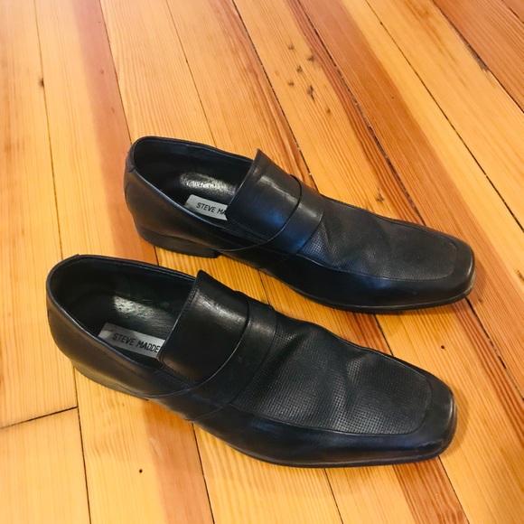 e378b887f6d Steve Madden Men's Size 10 Black Leather Shoes